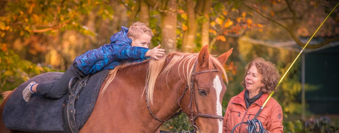 Hoeve Gasteren - Therapie met paard foto 3